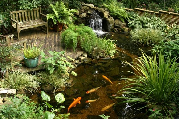 estanque para jardin con peces